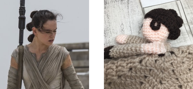 It was quite fiddly to fit all the buns in as well as the strands of hair at the side of Rey's head
